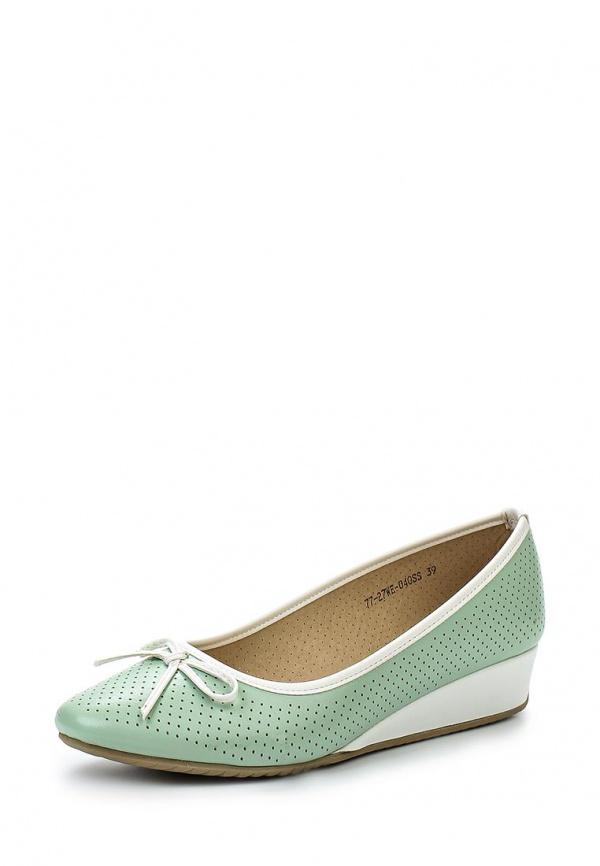 Туфли Instreet 77-27WE-040SS зеленые