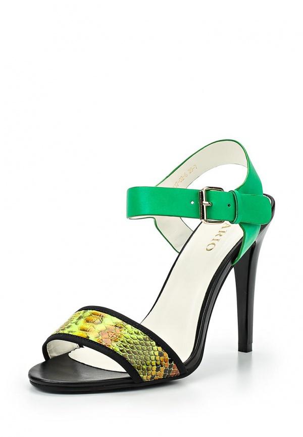 Босоножки Inario 15137-02-6 зеленые