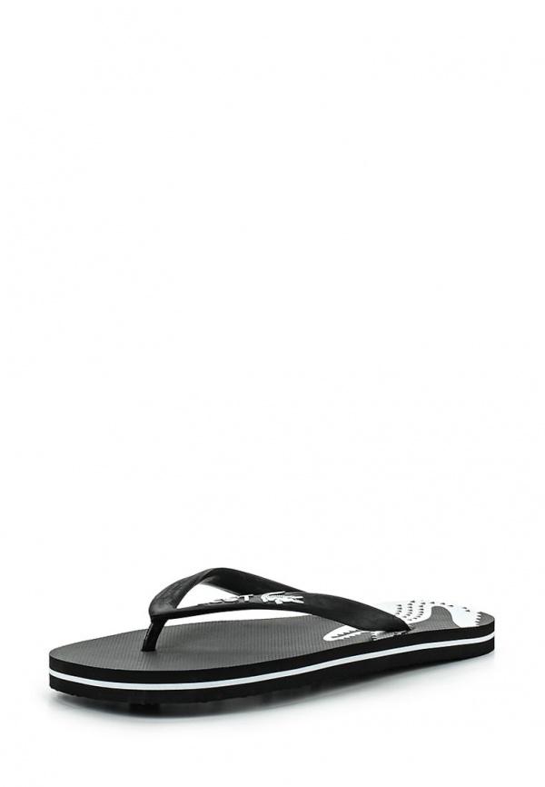 Сланцы Lacoste SCW1216312 чёрные