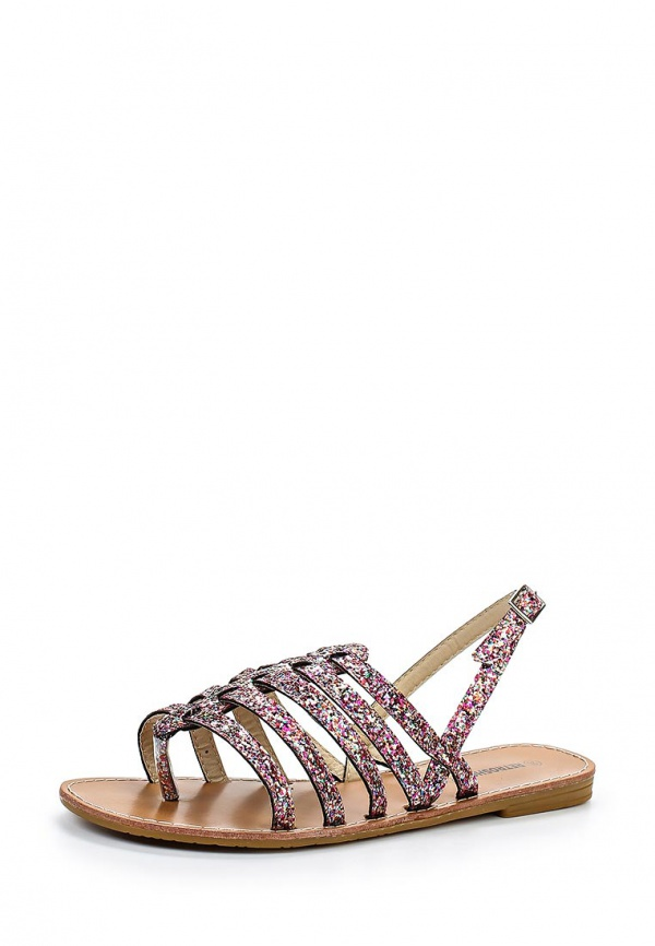 Сандалии Retro Shoes MILAN розовые, серебристые