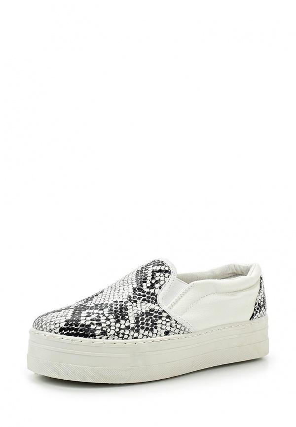 Слипоны Retro Shoes 428 белые, серые