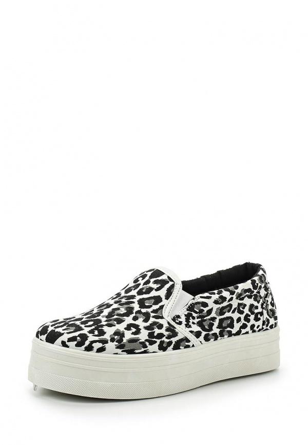 Слипоны-криперы Retro Shoes 430 белые, серые