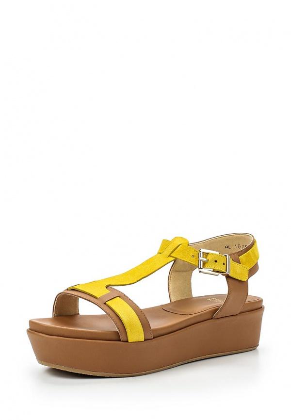 Босоножки Stuart Weitzman RL10786 жёлтые, коричневые
