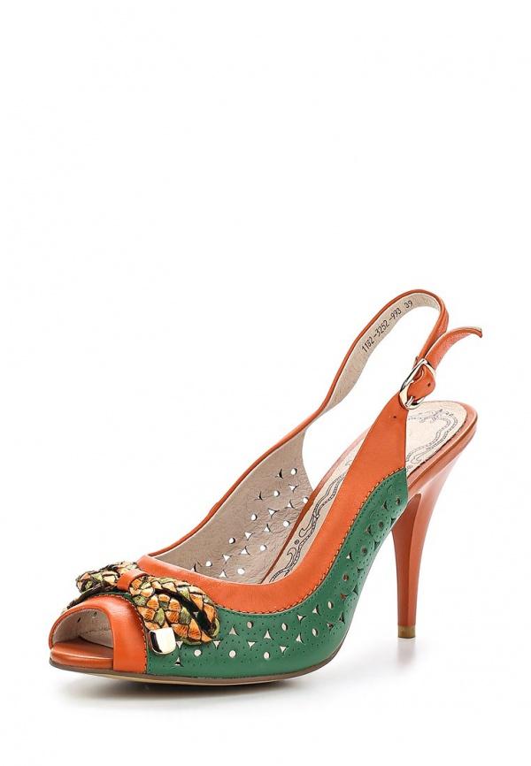 Босоножки La Grandezza 1182-3252-993 зеленые, оранжевые