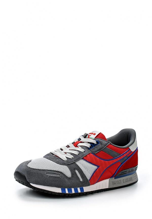 Кроссовки Diadora 158623 красные, серые