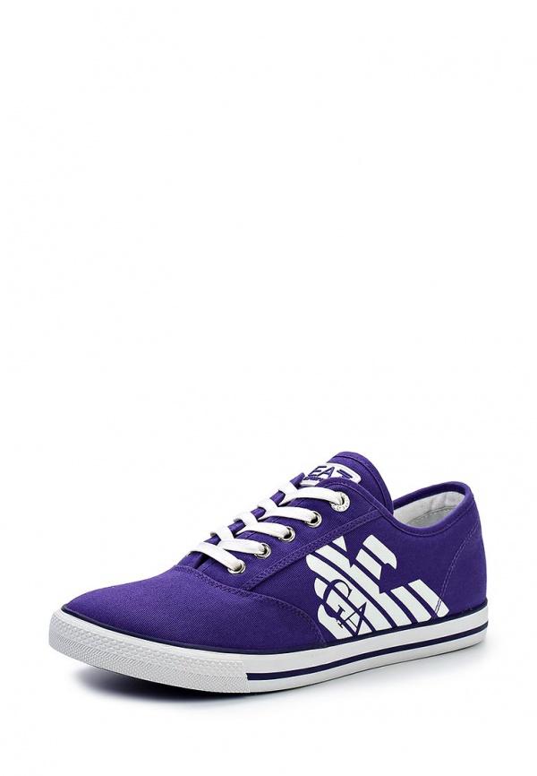 Кеды EA7 288013 5P299 фиолетовые