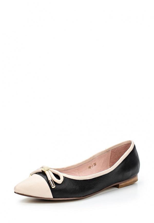 Балетки Just Couture 98-3 бежевые, чёрные