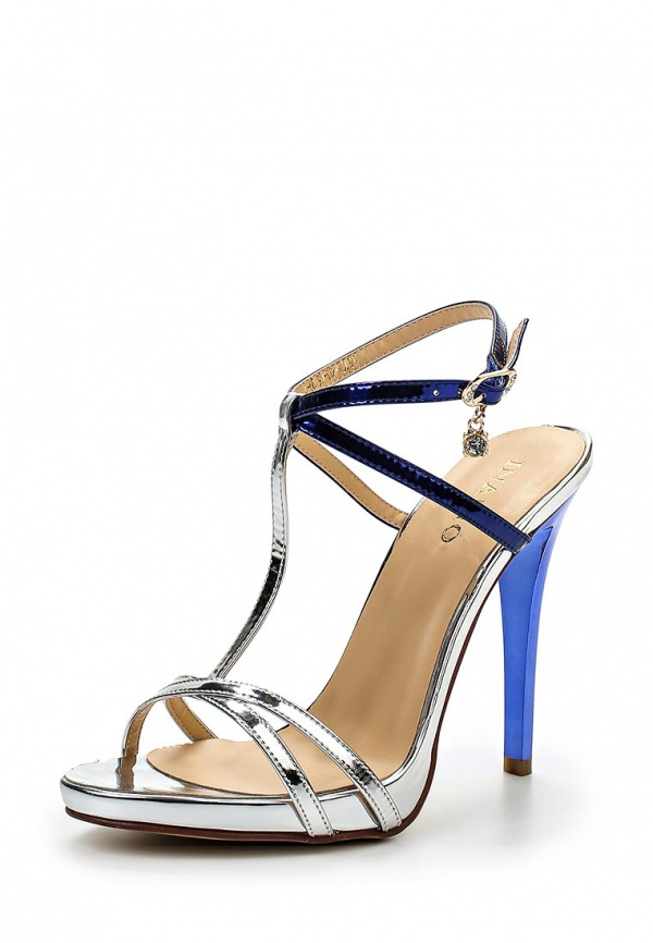 Босоножки Inario 15125-03-45 серебристые, синие