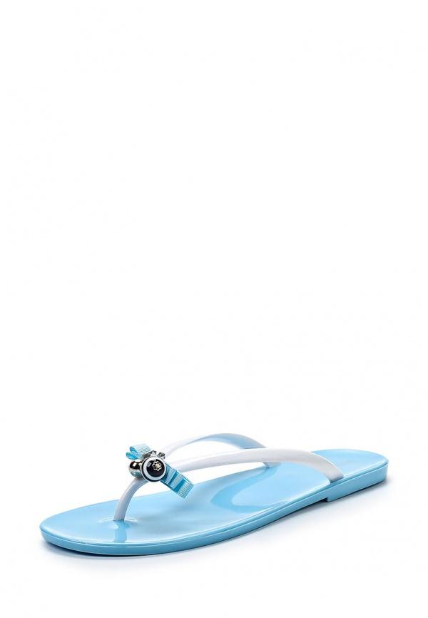 Сланцы Mon Ami 15S-3813 белые, голубые