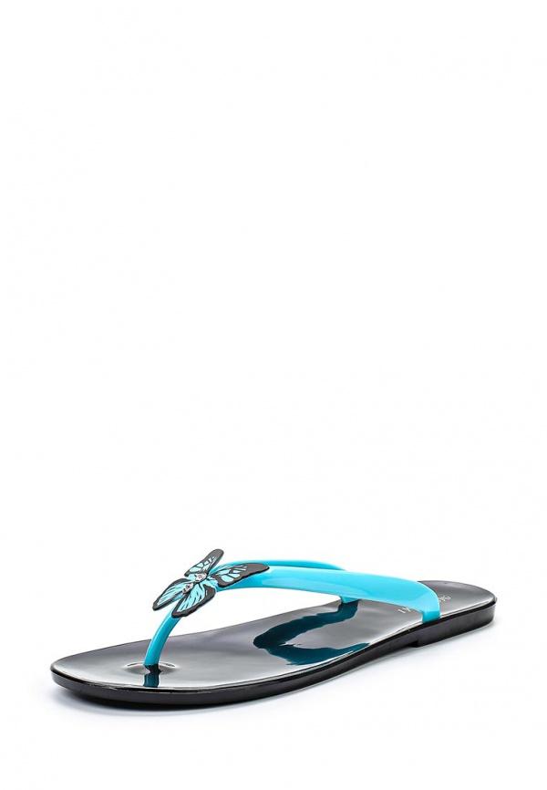 Сланцы Mon Ami 15S-4060 голубые, чёрные