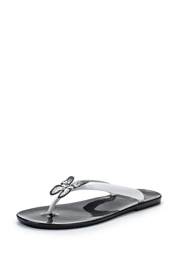 Сланцы Mon Ami 15S-4060 белые, чёрные