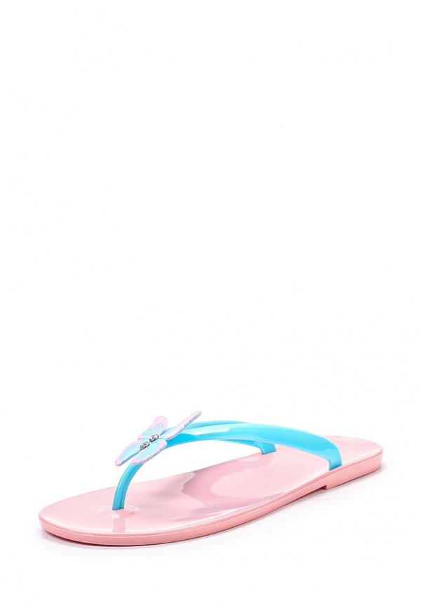 Сланцы Mon Ami 15S-4060 голубые, розовые