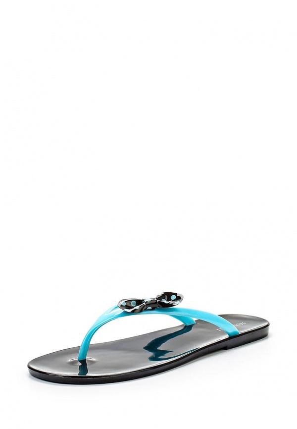 Сланцы Mon Ami 15S-3831 голубые, чёрные
