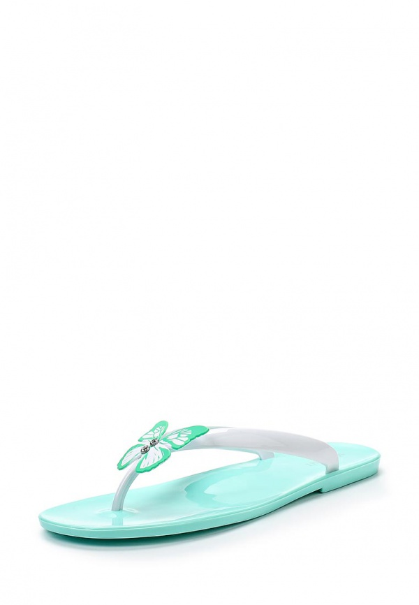 Сланцы Mon Ami 15S-4060 белые, бирюзовые