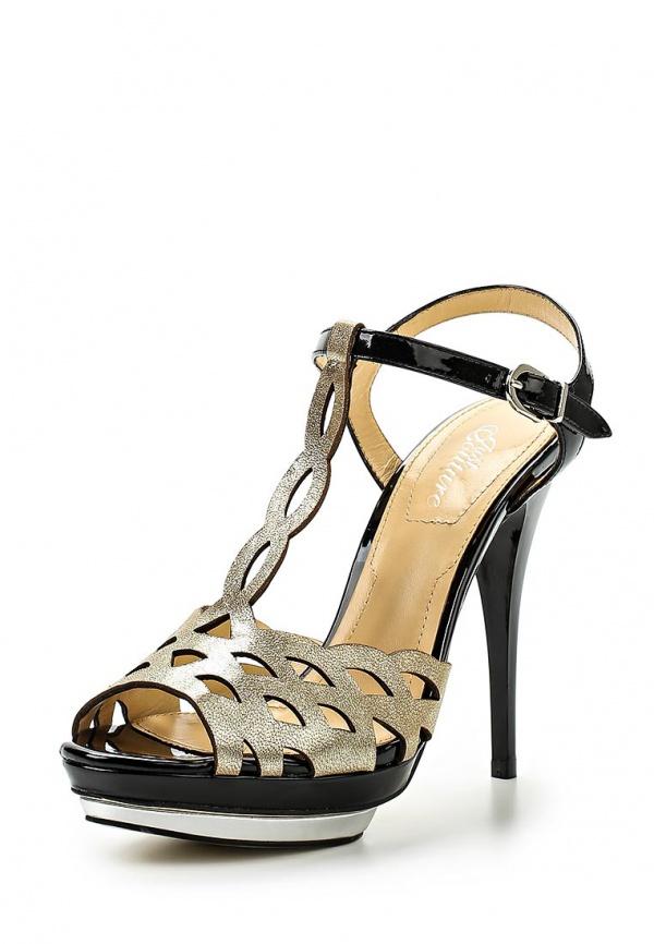 Босоножки Just Couture C6252S-33 золотистые, чёрные