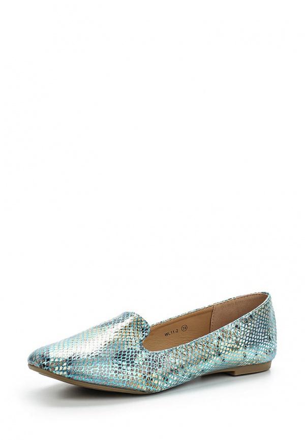 Лоферы WS Shoes WL11-2 голубые
