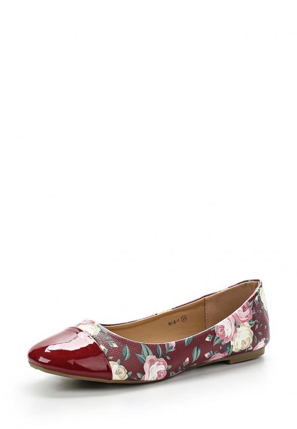 Балетки WS Shoes WL8-1 бордовые, мультиколор