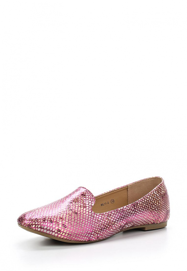 Лоферы WS Shoes WL 11-2 коричневые, розовые