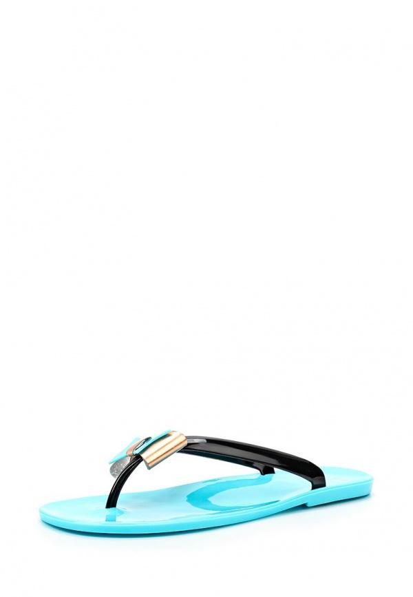 Сланцы Mon Ami S-5191 голубые, чёрные