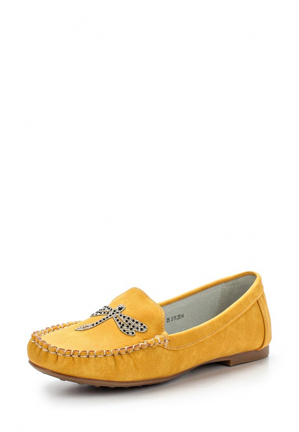 Мокасины Betsy 957648/02-01 жёлтые