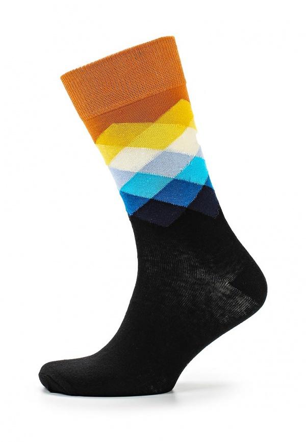 Носки Happy Socks FD01 чёрные