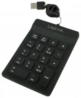 LogiLink Additional Numeric Keypad Black USB