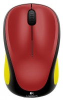 Logitech Wireless Mouse M235 910-004106 Black-Yellow-Red USB