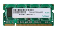 Apacer DDR2 800 ECC SO-DIMM 512Mb