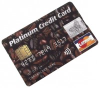 Эврика КРЕДИТКА PLATINUM CREDIT CARD КОФЕ 8GB