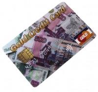 Эврика КРЕДИТКА GOLD CREDIT CARD РУБЛИ 4GB