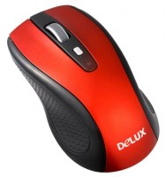 Delux DLM-486GL Black-Red USB