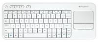 Logitech Wireless Touch Keyboard K400 White USB