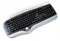 D-computer KB-2825 Black-Silver PS/2