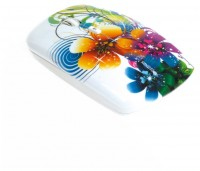 SmartBuy SBM-327AG-FL-FC Flowers Full-Color Print White USB