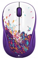 Logitech Wireless Mouse M325 Exuberance White-Purple USB