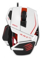 Mad Catz R.A.T. TE Gaming Mouse for PC and Mac White USB