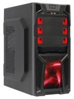 BoxIT 3401BR w/o PSU Black/red