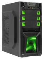 BoxIT 3401BG w/o PSU Black/green