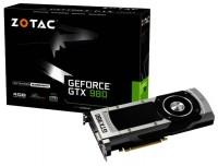 ZOTAC GeForce GTX 980 1126Mhz PCI-E 3.0 4096Mb 7010Mhz 256 bit DVI HDMI HDCP