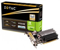 ZOTAC GeForce GT 720 797Mhz PCI-E 2.0 1024Mb 5010Mhz 64 bit DVI HDMI HDCP Silent