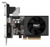 Palit GeForce GT 720 797Mhz PCI-E 2.0 2048Mb 1600Mhz 64 bit DVI HDMI HDCP