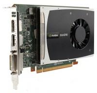 HP Quadro 2000 625Mhz PCI-E 2.0 1024Mb 2600Mhz 128 bit DVI