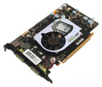 XFX GeForce 8600 GT 540Mhz PCI-E 256Mb 1400Mhz 128 bit 2xDVI TV YPrPb