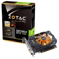 ZOTAC GeForce GTX 750 1033Mhz PCI-E 3.0 1024Mb 5000Mhz 128 bit DVI HDMI HDCP