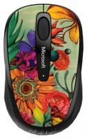Microsoft Wireless Mobile Mouse 3500 Artist Edition Linn Olofsdotter 2 Orange-Black USB