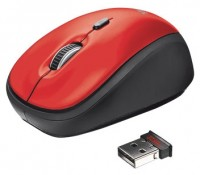 Trust Yvi Wireless Mouse Red USB