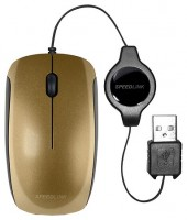 SPEEDLINK MINNIT Mobile Mouse Flexcable Gold USB