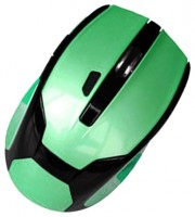 DeTech DE-7032W Wireless 6D Optical Mouse Black-Green USB