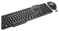 Trust Wireless Keyboard with mouse Black USB