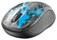Trust Vivy Wireless Mini Mouse blue graffiti Black-Blue USB